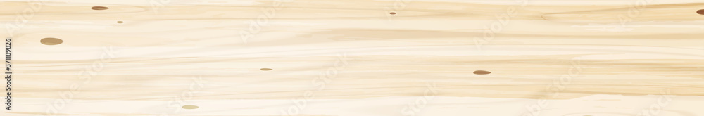 Fototapeta Panoramic texture of light wood with knots - Vector