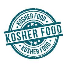 Kosher Food Round Blue Grunge ...