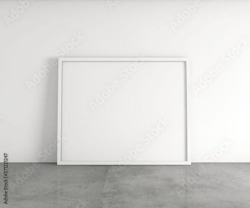 Obraz na plátně Empty white frame