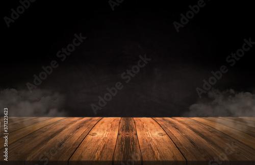 Fotografiet empty room with wooden floor
