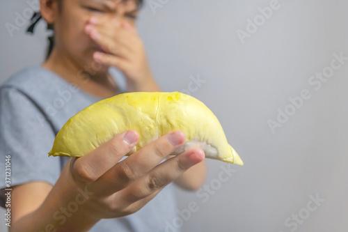 Foto Close-up of 1 ripe durian