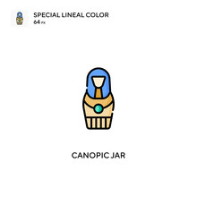 Canopic Jar Simple Vector Icon. Canopic Jar Icons For Your Business Project
