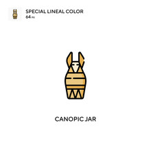 Canopic Jar Simple Vector Icon...