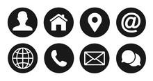 Contact Icons Set, Vector Illu...
