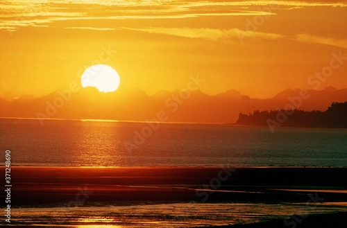 Fototapety, obrazy: Sunset on Ocean in Alaska