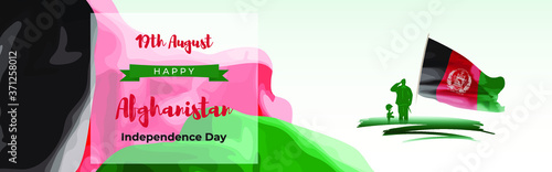 Vector illustration for Afghanistan  Independence Day -19 august Canvas Print