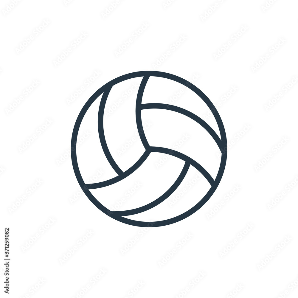 Fototapeta volleyball icon vector from sport concept. Thin line illustration of volleyball editable stroke. volleyball linear sign for use on web and mobile apps, logo, print media..