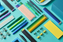 Assorted Multicolored Stationery Composition