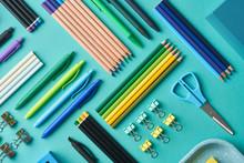 Colorful Various School Suppli...
