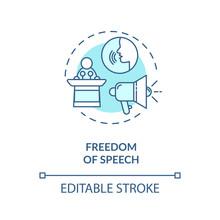 Freedom Of Speech Concept Icon...