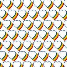 Patrón De Corazón Multicolor