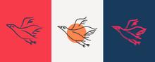 Bird Logo Vector Icon Template...