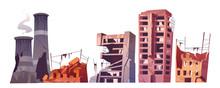 Destroyed City Buildings, War ...