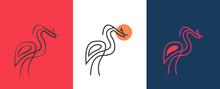 Cattle Egret Bird Logo Design. Awesome Cattle Egret Bird Silhouette. A Cattle Egret Bird Logotype.Heron Drawings ,ibis Vector ,swamp Logo Design ,abstract Heron ,crane Bird Cartoon,line Art Heron  3