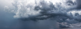 Fototapeta Na sufit - Stormy sky with gray clouds before the rain. Weather forecast concept.