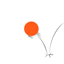 Illustration Of A Ball Bouncin...