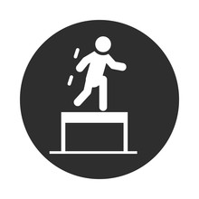 Extreme Sport Obstacle Course Active Lifestyle Block And Flat Icon