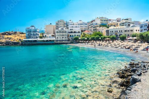 stadt agios nikolaos in Kreta Fototapet