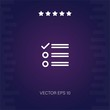 list vector icon modern illustration
