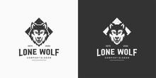 Wolf Vintage Logo Stock Vector