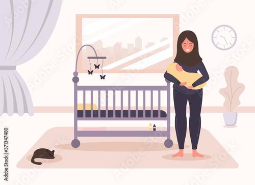 Fotografiet Happy motherhood