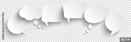 Fotografie, Obraz sticker speech bubbles with shadow