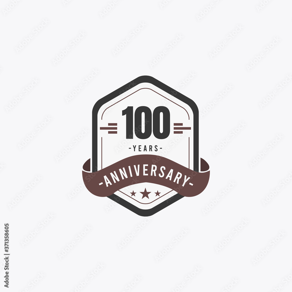 Fototapeta 100 Years Anniversary Celebrations Vector Template Design Illustration