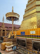 Within Wat Phra That Cho Hae Is An Ancient Sacred Temple To Worship Of Phrae Province In Thailand