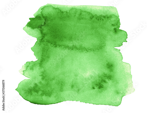Obraz na plátně Green abstract watercolor stains. Watercolor background.