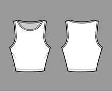 Cropped Cotton-jersey Tank Tec...