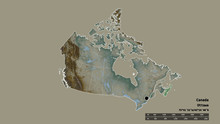 Location Of Nova Scotia, Province Of Canada,. Relief