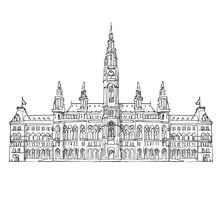 Amsterdam Cityhall Drawing