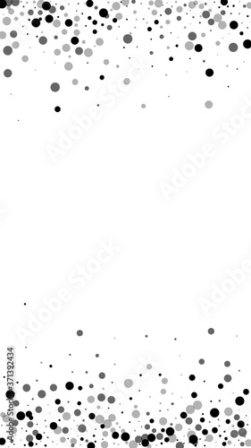 Scattered dense balck dots. Dark points dispersion Canvas Print