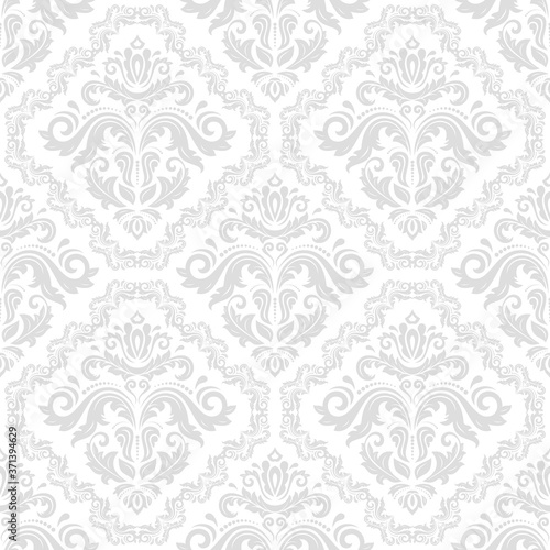 Tapeta Ecru  classic-seamless-vector-pattern-damask-orient-light-ornament-classic-vintage-background-orient-light-ornament-for-fabric-wallpaper-and-packaging