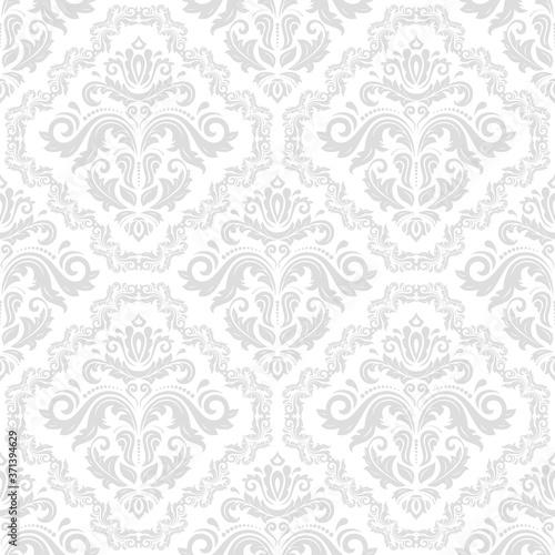 Tapeta Ecru  classic-seamless-vector-pattern-damask-orient-light-ornament-classic-vintage-background
