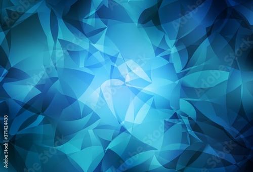 Photo Light BLUE vector triangle mosaic texture.