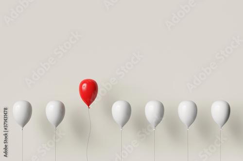 Roter Ballon fliegt hoch als Individualität Konzept Canvas-taulu