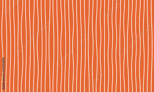 Photo White crooked twisted vertical line pattern on an orange background vector