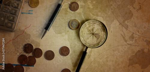 Photo sfondo, mappa, pergamena, navigazione, viaggio, viaggi