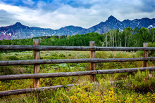Wooden Fence In The Mountains