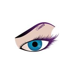 vector illustration of female eye