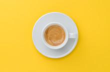 Espresso Coffee On Yellow Back...