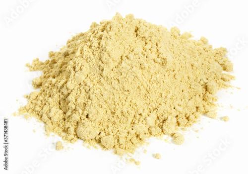 Tela Fenugreek Powder on white Background - Isolated