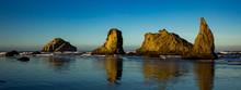 Face Rock And Other Sea Stacks At Bandon Beach On The Southern Oregon Coast At Bandon.