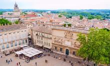 The Central Square Of Avignon,...
