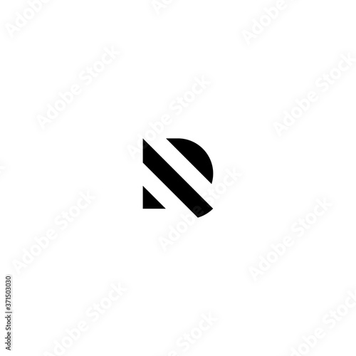 Photo DR Initial logo template vector.