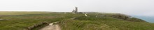 Panoramic View Of Lundy Island From The South End Of The Island, The Bristol Channel, Devon, UK