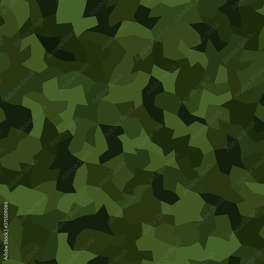 Fototapeta Vector abstract seamless pattern camouflage textile pixel style pattern