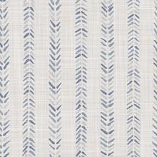 Seamless French Farmhouse Woven Linen Chevron Texture. Ecru Flax Blue Hemp Fiber. Natural Pattern Background. Organic Ticking Fabric For Kitchen Towel Material. Zig Zag Stride Material Allover Print