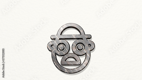 Платно famous character mr potato head 3D icon on the wall - 3D illustration for archit